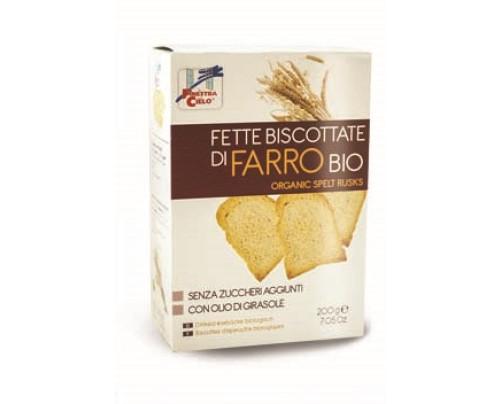 FETTE BISCOTTATE FARRO BIO200G