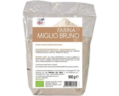 FARINA DI MIGLIO BRUNO BIO500G