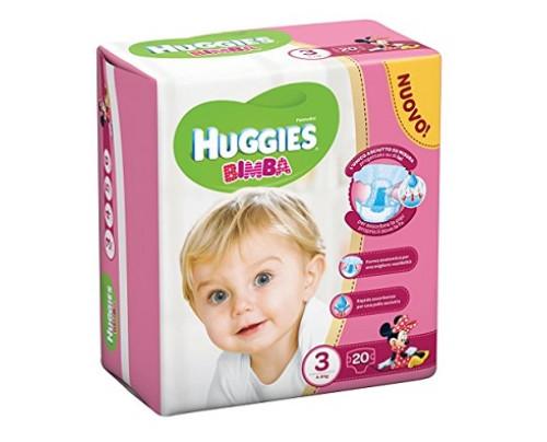 HUGGIES BASE GIRL 3 20PZ