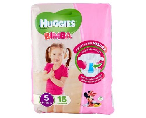 HUGGIES BASE GIRL 5 15PZ