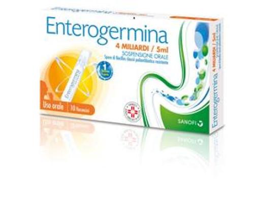 Enterogermina Sospensione Orale 10 Flaconcini 4 Miliardi 5 ml