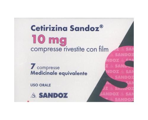 Cetirizina Sandoz 7 compresse rivestite 10 mg