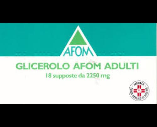 Glicerolo Afom 18 Supposte 2250 mg