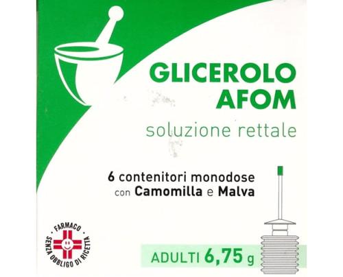 Glicerolo Afom Adulti 6 Contenitori 6,75 g