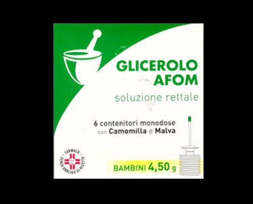 Glicerolo Afom Bambini 6 Contenitori 4,5 g