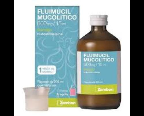 Fluimucil Mucolitico Sciroppo 600 mg/15 ml
