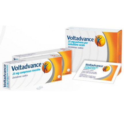 Voltadvance 10 compresse rivestite da 25 mg